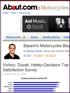 About.com: Motorcycles Victory, Ducati, Harley-Davidson Top Pied Piper's Dealer Satisfaction Survey