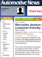 Automotive News Mercedes dealers ranked most customer-friendly; Ford, Chevy gain