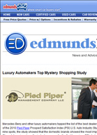 Edmunds Daily Luxury Automakers Top Mystery Shopping Study