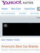 Yahoo! Autos America's Best Car Brands: Toyota, Ford and Honda top the list of best-loved car companies.