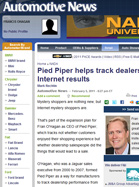 Automotive News Pied Piper helps track dealerships' internet results