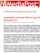 Media Post Automakers Internet Efforts Lag In-Person Customer Svc.