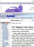The Detroit News Car shoppers rate stores: Survey shows luxury brand dealers give customers best treatment
