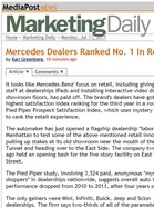 Media Post Marketing Daily Mercedes Dealers Ranked No. 1 In Retail Experience