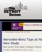 Detroit Bureau Mercedes-Benz Tops at Handling Shoppers, Finds New Study, But even the best makers have slipped coming out of recession