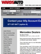 Wards Auto Mercedes Dealers Top Sales-Effectiveness List