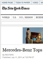 New York Times Mercedes-Benz tops study of U.S. auto dealers