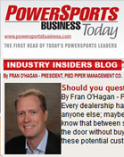 Powersports Business Blog As dealer principal, do you act like a CEO or a janitor?