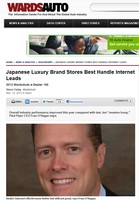 Ward's Auto Japanese Luxury Brand Stores Best Handle Internet Leads
