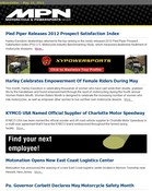 Motorcycle & Powersports News Pied Piper Releases 2012 Prospect Satisfaction Index