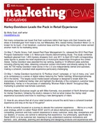 American Marketing Association: Marketing News Exclusives Harley-Davidson Leads the Pack in Retail Experience