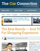 Car Connection The Best Brands -- And The Worst -- For Shopping Experience