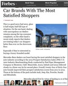 Forbes Car Brands With The Most Satisfied Shoppers