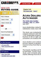 Car and Driver Acura Dealers Ranked Highest in Study