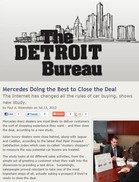 The Detroit Bureau Mercedes Doing the Best to Close the Deal