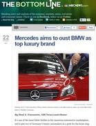 NBC News Mercedes aims to oust BMW as top luxury brand
