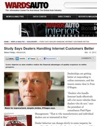 WardsAuto Study Says Dealers Handling Internet Customers Better