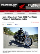 Motorcycle.com Harley-Davidson Tops 2013 Pied Piper Prospect Satisfaction Index