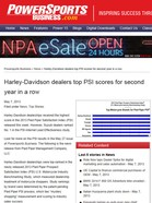 PowerSports Business Harley-Davidson dealers top PSI scores for second year in a row