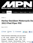 MPN Magazine Harley-Davidson Motorcycle Dealers Ranked Highest By 2013 Pied Piper PSI
