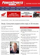 Powersports Business Study: Consumers expect online reply in 30 minutes