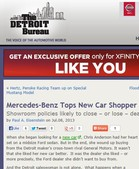 The Detroit Bureau Mercedes-Benz Tops New Car Shopper Satisfaction Survey