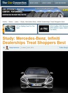 The Car Connection Study: Mercedes-Benz, Infiniti Dealerships Treat Shoppers Best