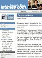 LA Times Acura tops survey of dealer service