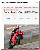 Ultimate Motorcycling Ducati Dealers Top 2014 Pied Piper Satisfaction Study