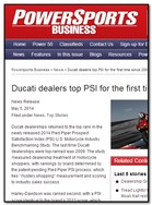 Powersports Business Ducati dealers top PSI for the first time since 2009