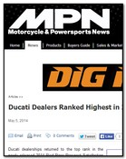 Motorcycle & Powersport News Ducati Dealers Ranked Highest in 2014 Pied Piper Study