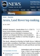 ABC News Acura, Land Rover top ranking of U.S. dealerships