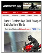 Motorcycle.com Ducati Dealers Top 2014 Prospective Shopper Satisfaction Study