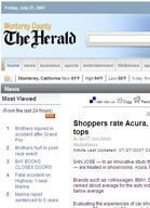 Monterey County Herald Shoppers rate Acura, Land Rover, Saturn dealers tops