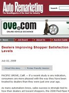 Auto Remarketing Dealers Improving Shopper Satisfaction Levels
