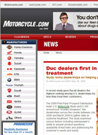 Motorcycle.com Duc dealers first in customer treatment - Study ranks dealerships on helping prospective customers