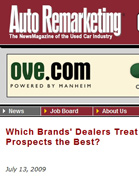 Autoremarketing.com Which Brands' Dealers Treat In-Person Prospects the Best?