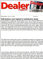Dealer Magazine M-B dealers rank highest in satisfaction study