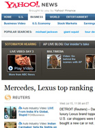Yahoo! NEWS: US & CANADA Mercedes, Lexus top ranking of U.S. dealerships
