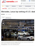 CANADA.COM Mercedes-Benz, Lexus Top Ranking of U.S. Dealerships