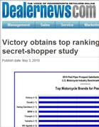 Dealernews Victory obtains top ranking in Pied Piper secret-shopper study