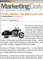 MediaPost Victory dealers top motorcycle satisfaction study